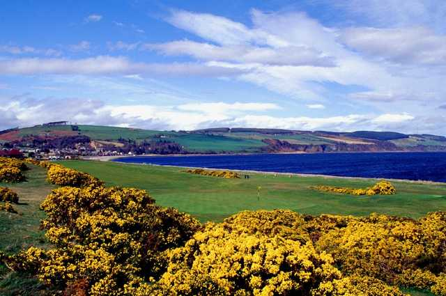 Looking back towards 1st hole at Fortrose & Rosemarkie Golf Club.