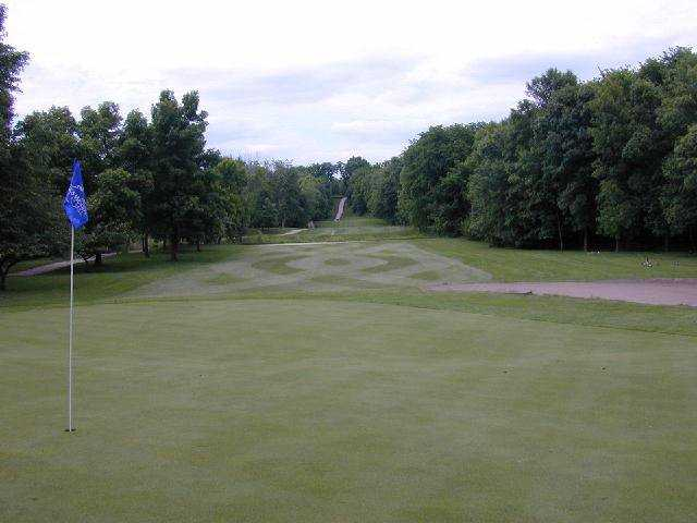 Looking back from the 13th green at Briggs Woods Golf Course