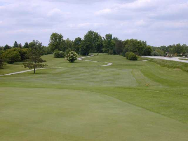 Looking back from the 7th green at Briggs Woods Golf Course