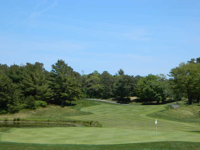 A view of the 18th hole at Atlantic Country Club.