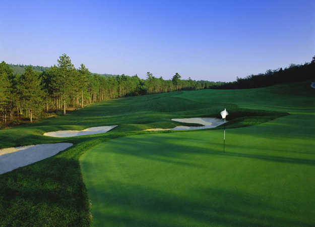 A view of the 10th hole from Nicklaus Course at Pinehills Golf Club