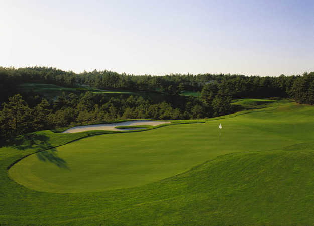 A view of the 15th hole from Nicklaus Course at Pinehills Golf Club