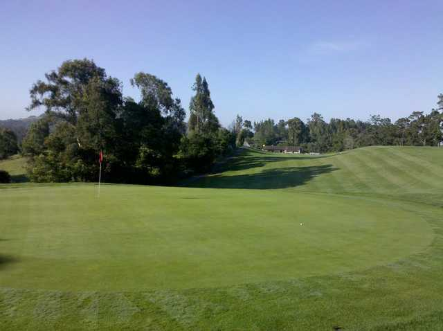 A view from the 1st hole at Lake Chabot Golf Course.