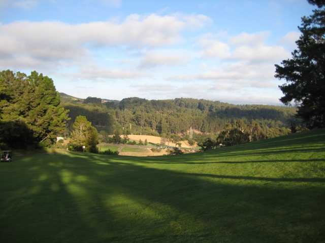 A view from the 18th hole at Lake Chabot Golf Course