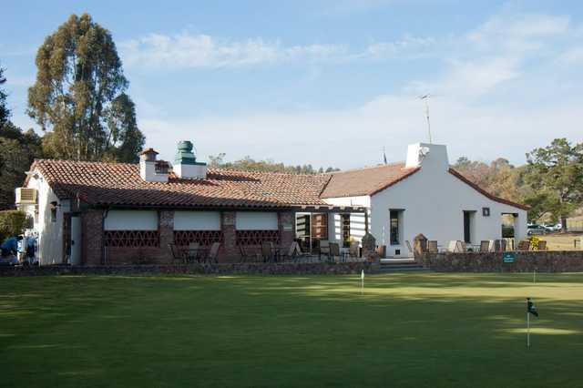 A view of the clubhouse at Lake Chabot Municipal Golf Course.