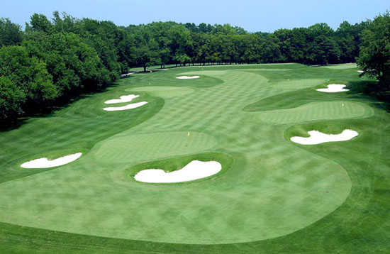 A view of the practice facilities at Indiana University Golf Course