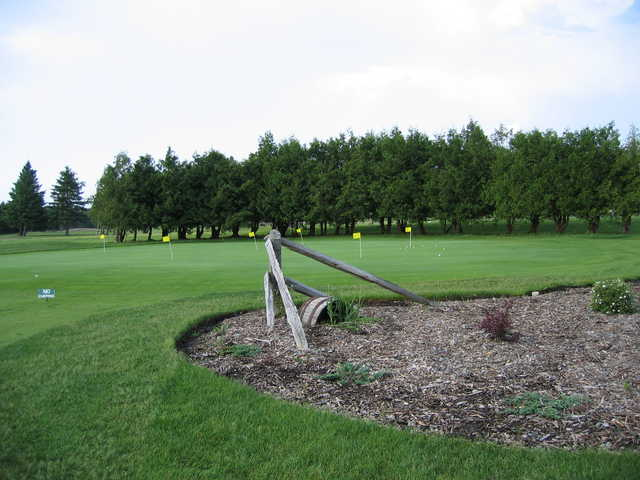 A view of the putting green areea at Springwater Golf Course.