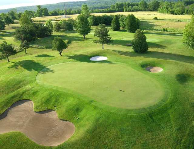 Aerial view of the 7th green from Championship course at Brooklea Golf and Country Club