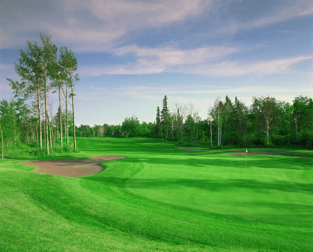 A view of the 7th green from the Canyon course at Superior National at Lutsen