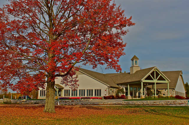 A view of the clubhouse at Eagle Ridge Golf Course