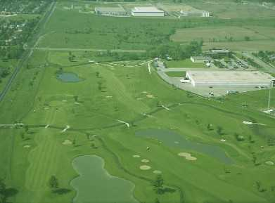 Aerial view of the Parkshore Golf Club