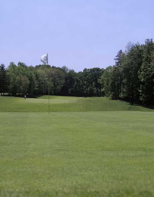 A view of a green at Shawnee Hills Golf Course