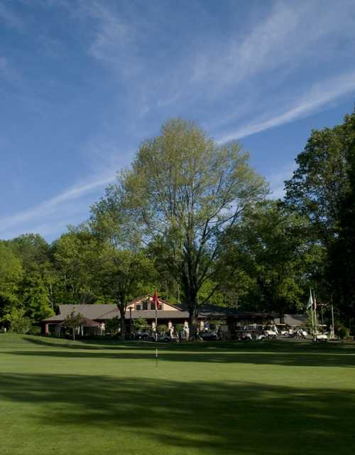 A view of the clubhouse at Big Met Golf Course