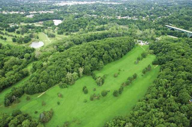 Aerial view from Little Met Golf Course