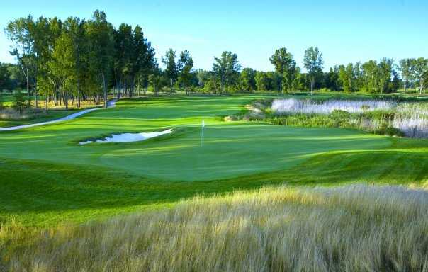 A view of the 16th green at Harbor Shores