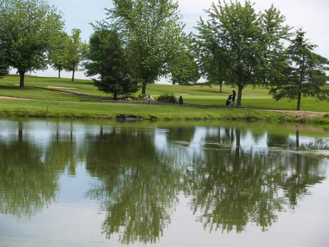Water comes into play on several holes at Timber Creek Golf Course