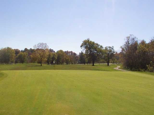 A view of a hole at Lucas Oil Golf Course