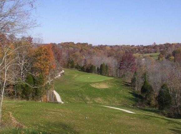 A fall view from Lucas Oil Golf Course