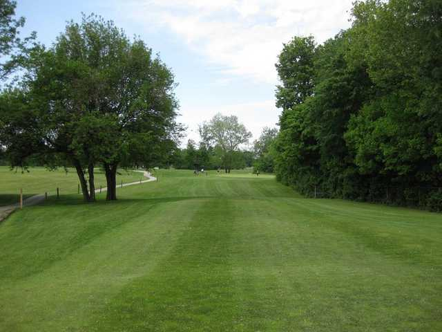 A view of hole #16 at Sarah Shank Golf Course