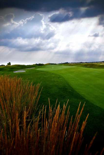 A view of hole #17 at Noble Hawk Golf Links