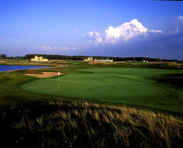 A view of green #16 at Noble Hawk Golf Links
