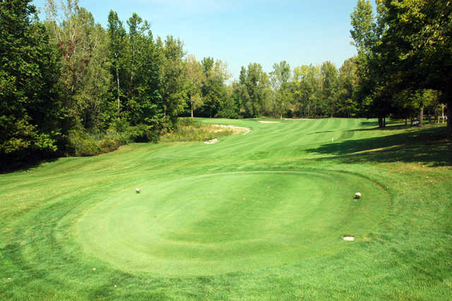 A view from a tee at Rock Hollow Golf Club