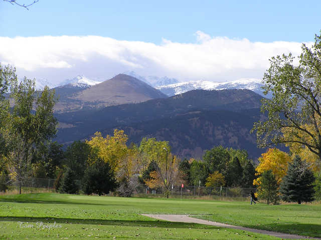 View of 4th green from Flatirons Golf Club