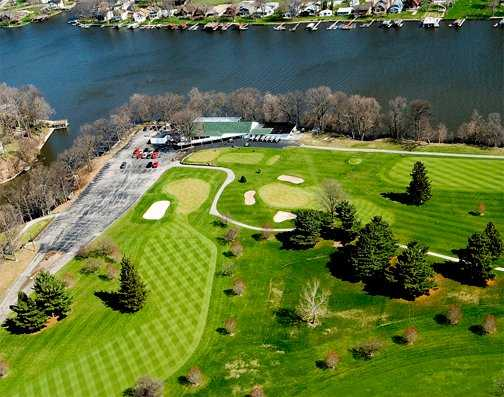 Aerial view of the clubhouse at Tippecanoe Country Club