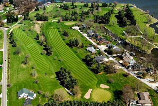 Aerial view from Tippecanoe Country Club
