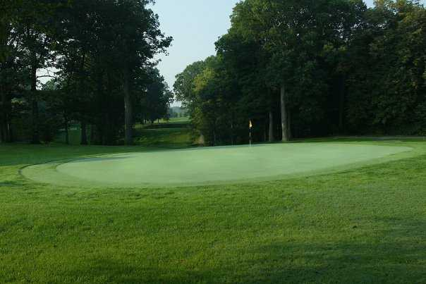A view of hole #17 at Ackerman-Allen Course from Birck Boilermaker Golf Complex