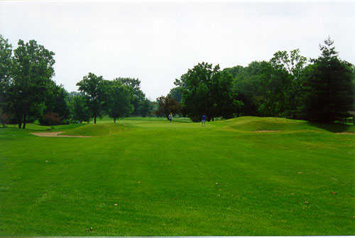A view from a fairway at Oaktree Golf Course
