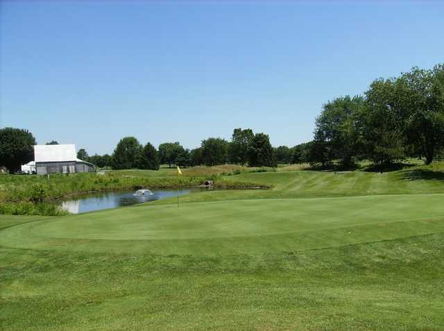 A view of the 13th hole at Shadowood Golf Course