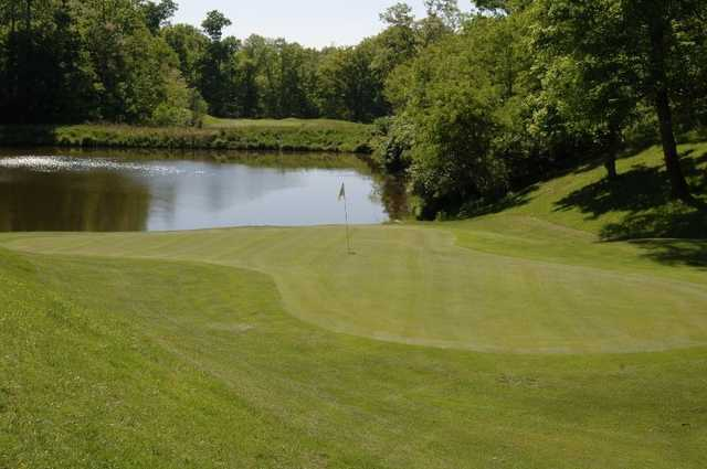 A view of the 17th green at Grand Oak Golf Club
