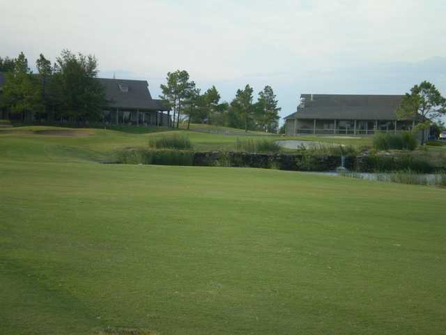 A view of a hole at White Hawk Golf Club