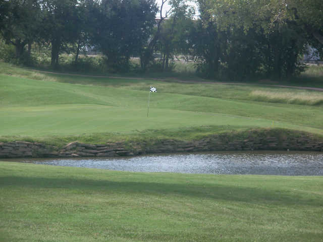 A view of a green at Crimson Creek Golf Course