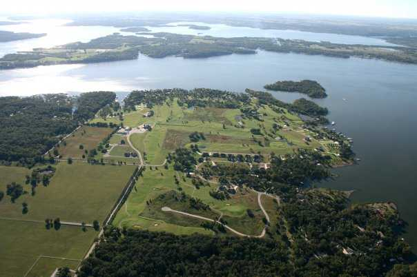 Aerial view from Patricia Island Golf Club