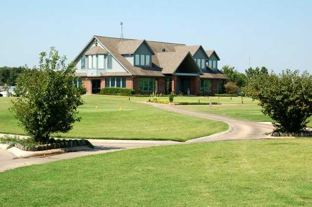 A view of the clubhouse from the Golf Club at Cimarron Trails