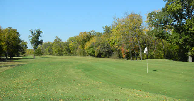 A view of the 14th green at Clary Fields Golf Club