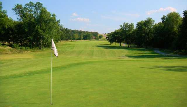A view of hole #10 at Clary Fields Golf Club