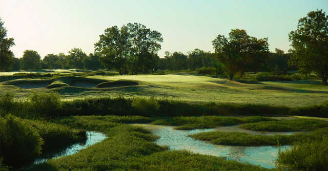 A view of the 2nd hole at Clary Fields Golf Club