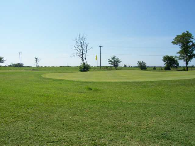 A view of a green at Stroud Golf Course