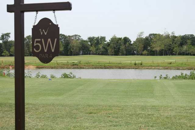 A view of a tee from WinStar Golf Course.