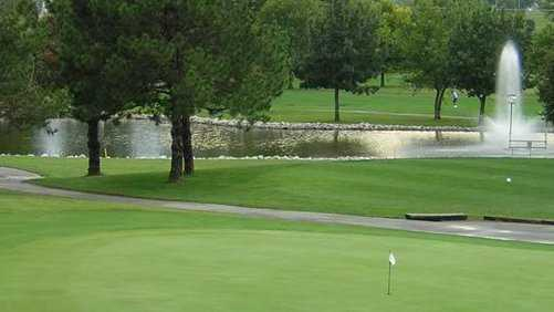 A view of green at Knolls Golf Club