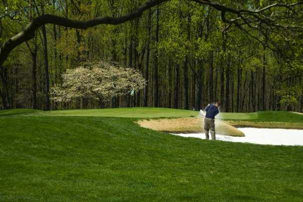 A spring view of a green at Deerfield Golf & Tennis Club
