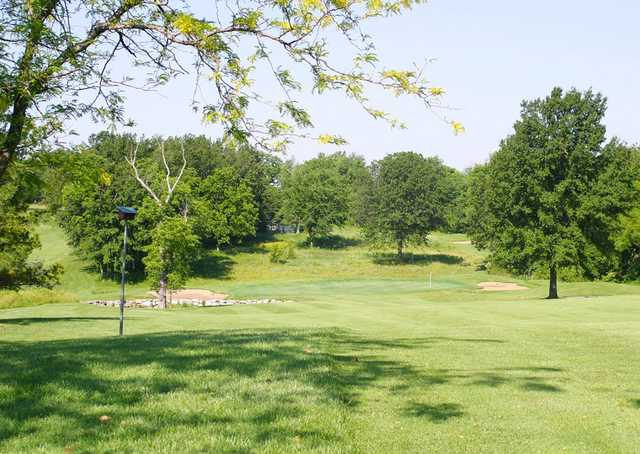 A view of the 11th hole at Adams Pointe Golf Club