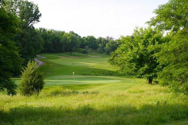 A view of green #6 at Adams Pointe Golf Club