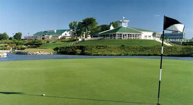 A view of the clubhouse at Adams Pointe Golf Club
