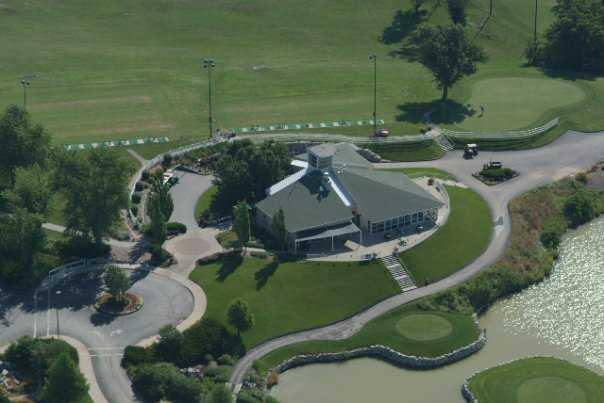 Aerial view from Adams Pointe Golf Club
