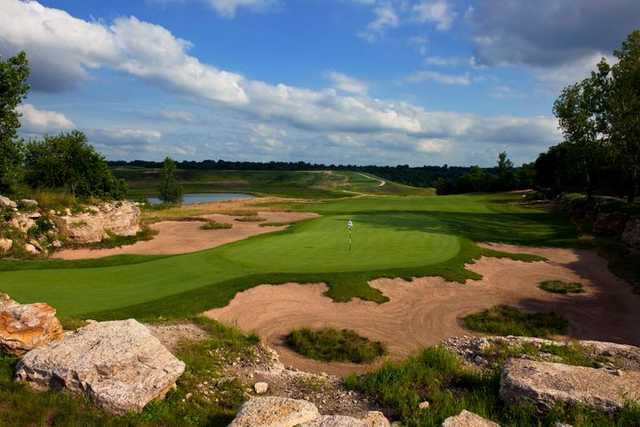 A view of the 12th hole at Stone Canyon Golf Club (Dick Durrance II)