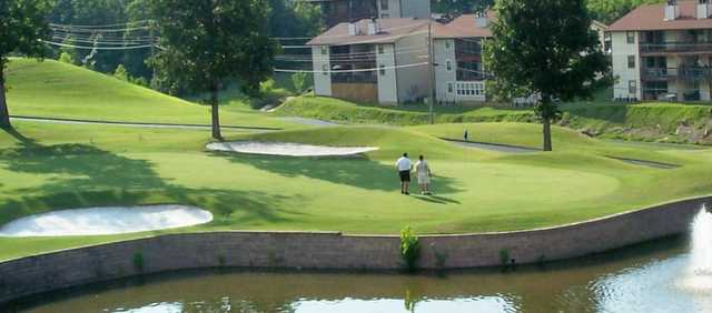 A view of hole #10 at Pointe Royale Condominium Resort & Golf Course